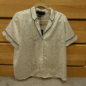 Faux silk shirt
